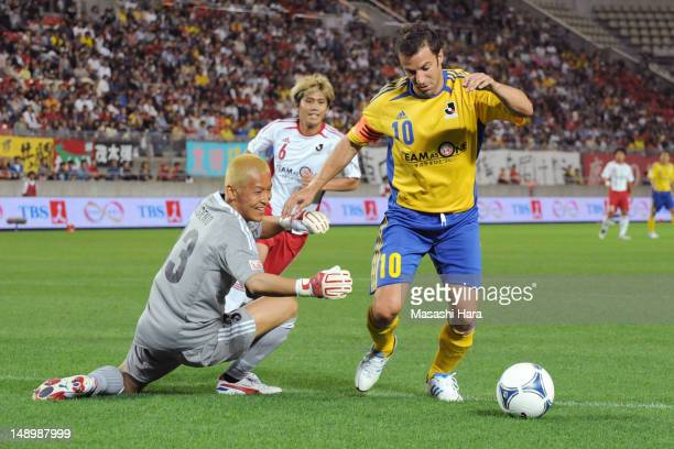 Alessandro Del Piero in action during the JLeague special match at Kashima Soccer Stadium on July 21 2012 in Kashima Japan The match is being held to...