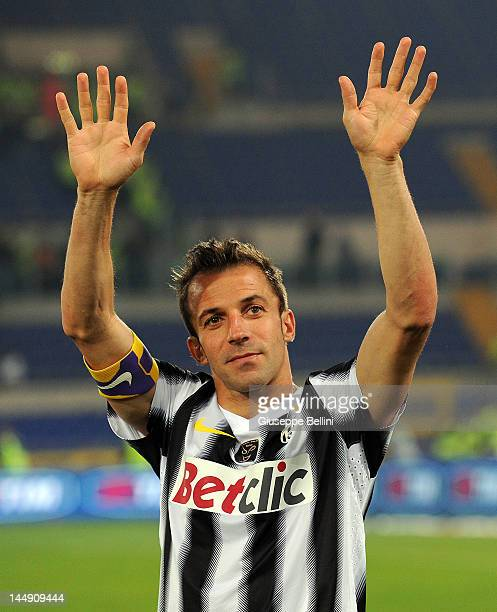 Alessandro Del Piero of Juventus after the Tim Cup final match between Juventus FC and SSC Napoli at Olimpico Stadium on May 20 2012 in Rome Italy