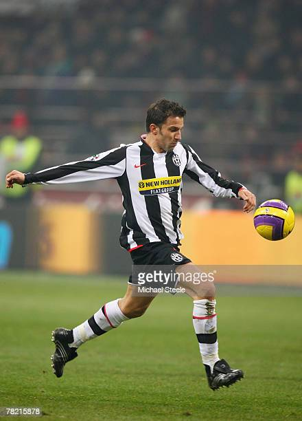 Alessandro Del Piero of Juventus during the Serie A match between AC Milan and Juventus at the San Siro stadium on December 1 2007 in MilanItaly
