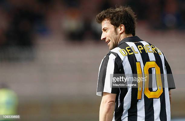 Alessandro Del Piero of Juventus during the Serie A match between Lecce and Juventus FC at Stadio Via del Mare on February 20 2011 in Lecce Italy