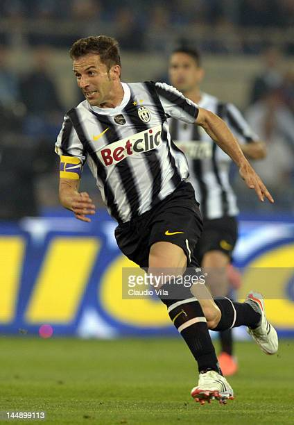 Alessandro Del Piero of Juventus FC during the Tim Cup Final between Juventus FC and SSC Napoli at Olimpico Stadium on May 20 2012 in Rome Italy