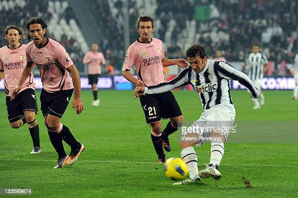 Alessandro Del Piero of Juventus FC in action during the Serie A match between Juventus FC and US Citta di Palermo on November 20 2011 in Turin Italy