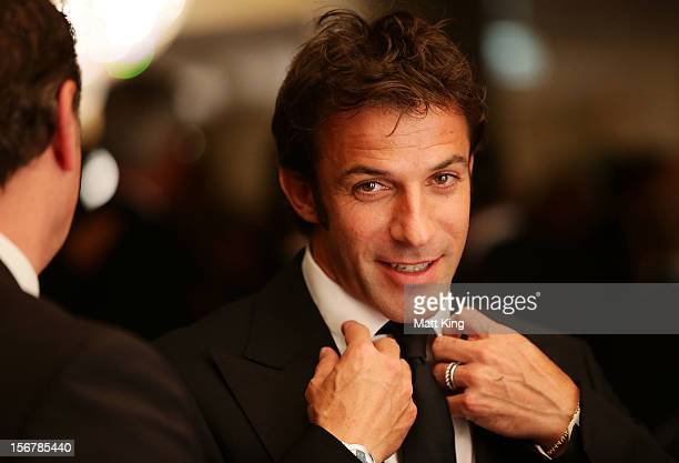 Alessandro Del Piero of Sydney FC attends the 2012 Australian Football Awards at Sofitel Hotel on November 21 2012 in Sydney Australia