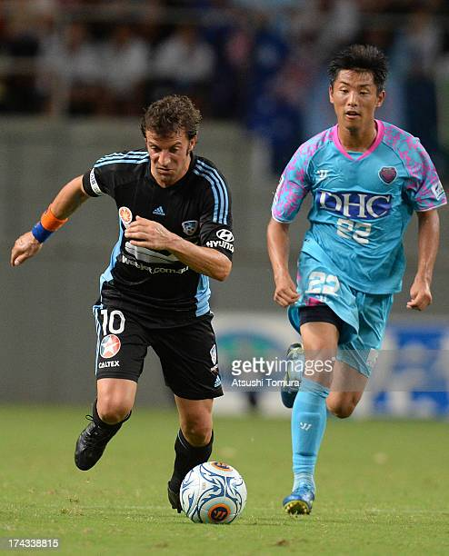 Alessandro Del Piero of Sydney FC in action during the preseason friendly match between Sagan Tosu and Sydney FC at best Amenity Stadium on July 24...
