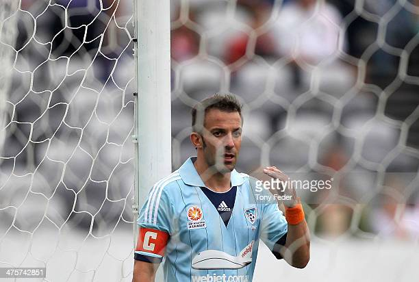 Alessandro Del Piero of Sydney FC looks dejected after losing to the Mariners during the round 21 ALeague match between Central Coast Mariners and...