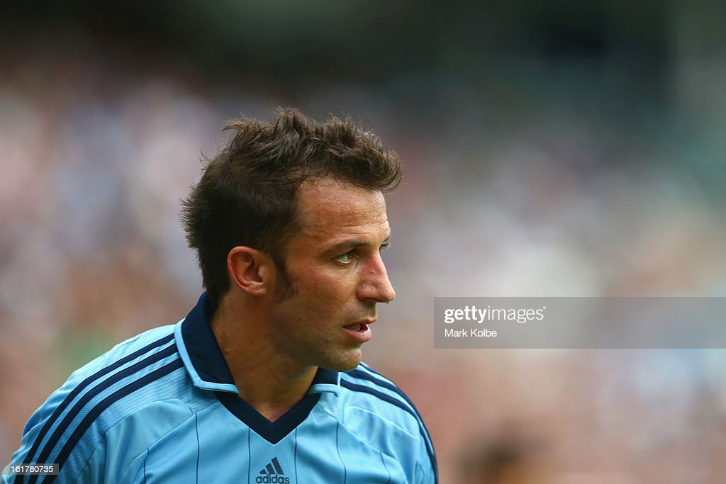 <a gi-track='captionPersonalityLinkClicked' href=/galleries/search?phrase=Alessandro+Del+Piero&family=editorial&specificpeople=206226 ng-click='$event.stopPropagation()'>Alessandro Del Piero</a> of Sydney FC looks on during the round 21 A-League match between Sydney FC and Adelaide United at Allianz Stadium on February 16, 2013 in Sydney, Australia.
