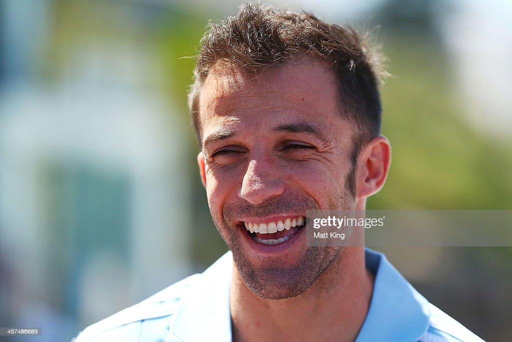 <a gi-track='captionPersonalityLinkClicked' href=/galleries/search?phrase=Alessandro+Del+Piero&family=editorial&specificpeople=206226 ng-click='$event.stopPropagation()'>Alessandro Del Piero</a> of Sydney FCspeaks to the media during the launch of the A-League's Summer of Football at Bondi Icebergs on December 18, 2013 in Sydney, Australia.