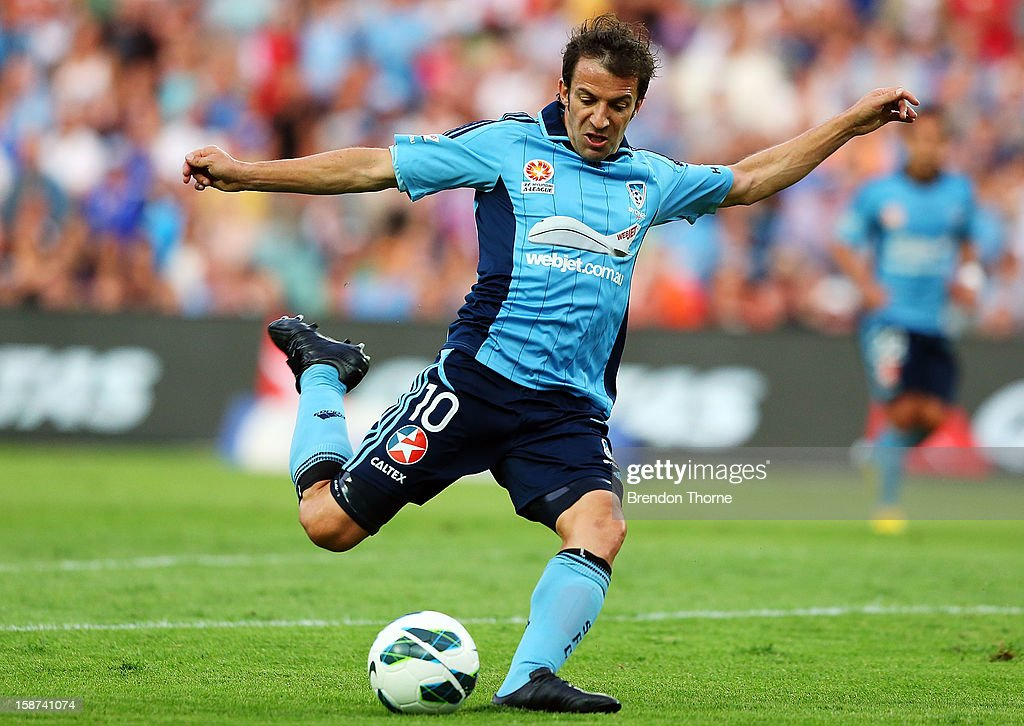 <a gi-track='captionPersonalityLinkClicked' href=/galleries/search?phrase=Alessandro+Del+Piero&family=editorial&specificpeople=206226 ng-click='$event.stopPropagation()'>Alessandro Del Piero</a> of Sydney shoots during the round 13 A-League match between Sydney FC and the Central Coast Mariners at Allianz Stadium on December 27, 2012 in Sydney, Australia.