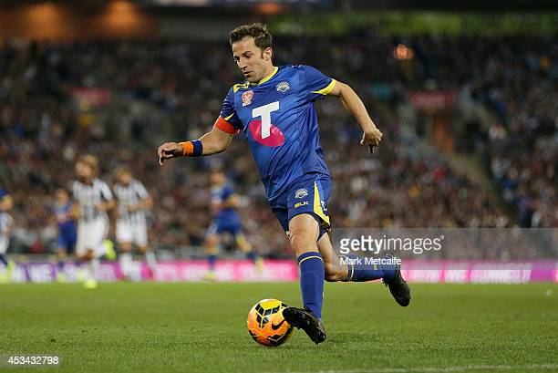 Alessandro Del Piero of the All Stars in action during the match between the ALeague All Stars and Juventus at ANZ Stadium on August 10 2014 in...