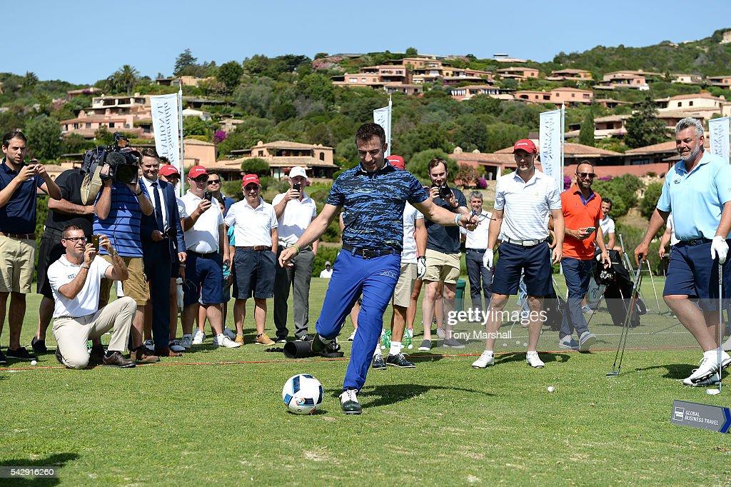 Alessandro Del Piero plays soccer during The Costa Smeralda Invitational golf tournament at Pevero Golf Club - Costa Smeralda on June 25, 2016 in Olbia, Italy.
