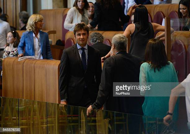 Alessandro Di Battista during first Capitoline Assembly of the Council Virginia Raggi Campidoglio on July 07 2016 in Rome Italy