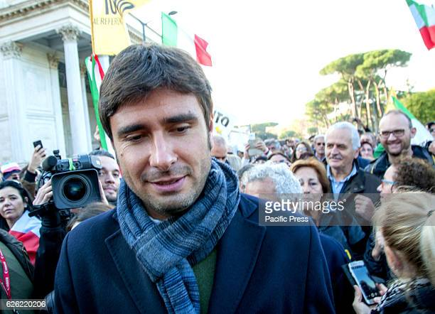 Alessandro Di Battista parliamentary deputy of the Movement 5 stars during manifestation against the referendum on 4th of December