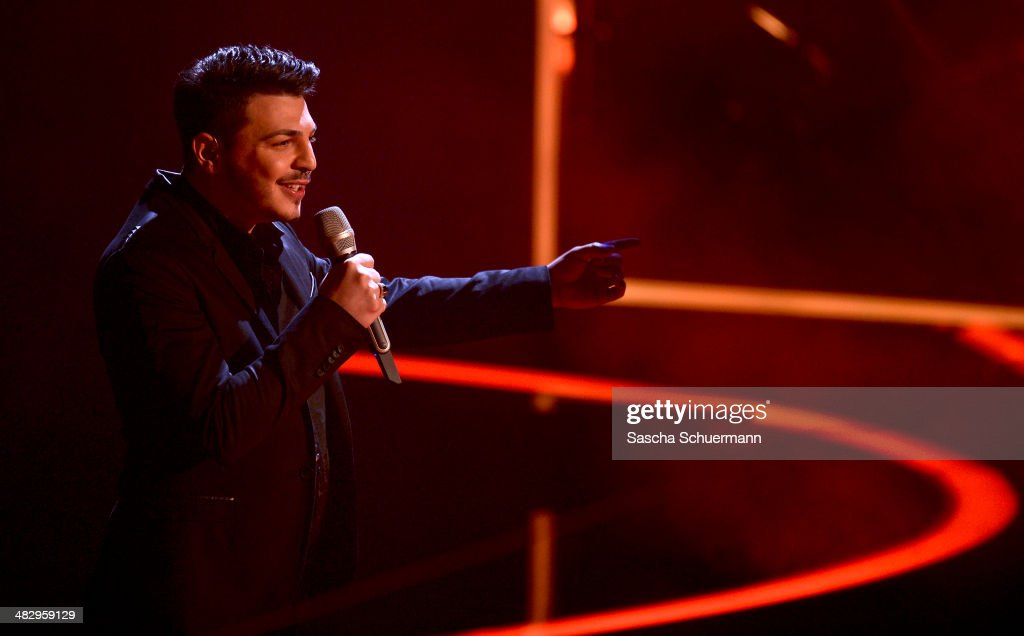 Alessandro Di Lella performs at the rehearsal for the 2nd 'Deutschland sucht den Superstar' (DSDS) show at Coloneum on April 5, 2014 in Cologne, Germany.