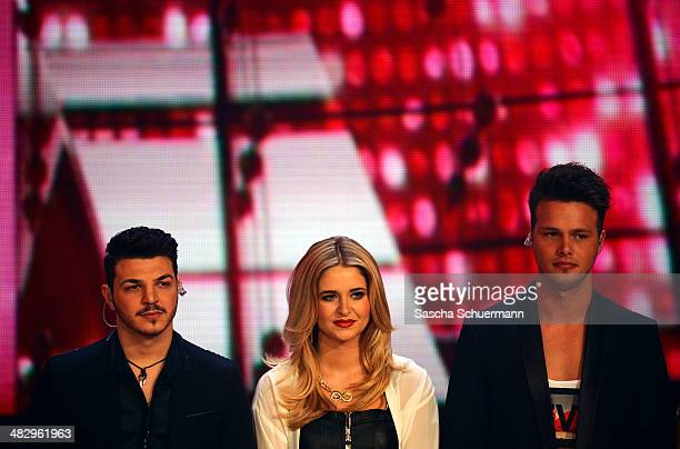 Alessandro Di Lella Vanessa Valera Rojas and Richard Schloegl attend the rehearsal performs at the rehearsal for the 2nd 'Deutschland sucht den...