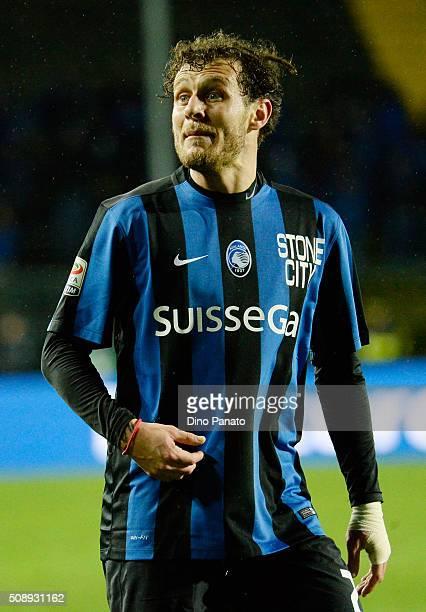 Alessandro Diamanti of Atalanta BC reacts during the Serie A match between Atalanta BC and Empoli FC at Stadio Atleti Azzurri d'Italia on February 7...