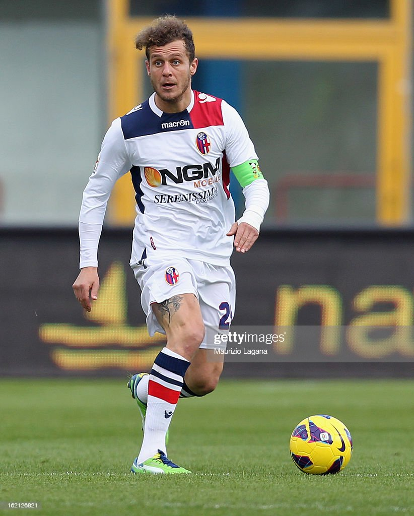 <a gi-track='captionPersonalityLinkClicked' href=/galleries/search?phrase=Alessandro+Diamanti&family=editorial&specificpeople=4891338 ng-click='$event.stopPropagation()'>Alessandro Diamanti</a> of Bologna during the Serie A match between Calcio Catania and Bologna FC at Stadio Angelo Massimino on February 17, 2013 in Catania, Italy.