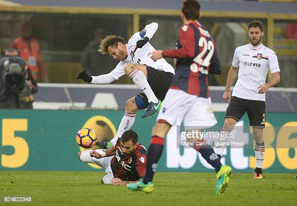 Alessandro Diamanti of US Citta di Palermo in action during the Serie A match between Bologna FC and US Citta di Palermo at Stadio Renato Dall'Ara on...