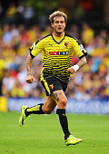 Alessandro Diamanti of Watford in action during the Barclays Premier League match between Watford and Southampton at Vicarage Road on August 23 2015...