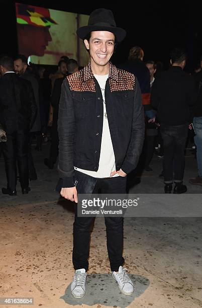 Alessandro Enriquez attends the Dsquared2 during the Milan Menswear Fashion Week Fall Winter 2015/2016 on January 16 2015 in Milan Italy