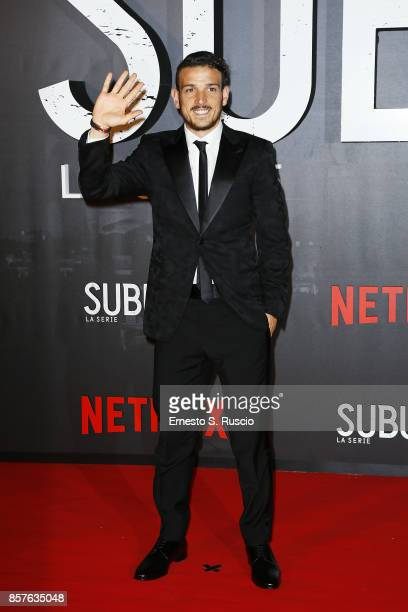 Alessandro Florenzi attend Netflix's Suburra The Series Premiere at The Space Moderno on October 4 2017 in Rome Italy