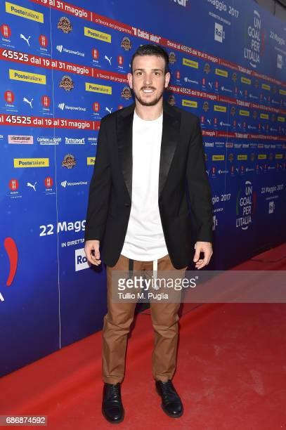 Alessandro Florenzi attends 'Un Goal per l'Italia' Event on May 22 2017 in Norcia Italy