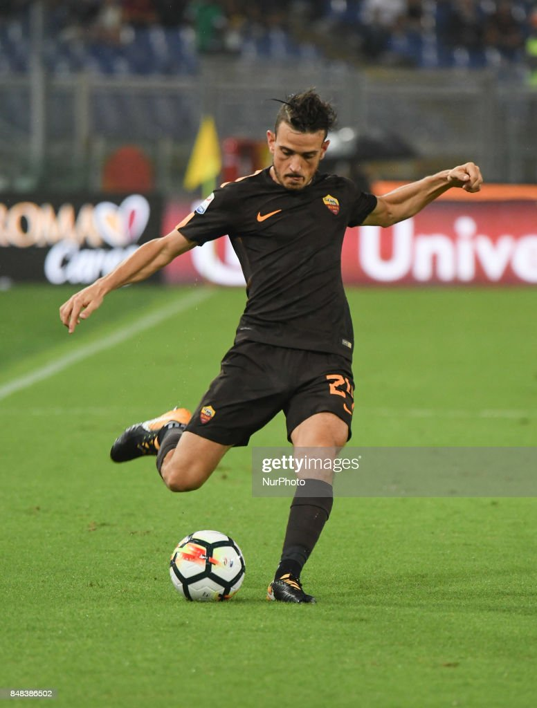 Alessandro Florenzi during the Italian Serie A football match between A.S. Roma and F.C. Hellas Verona at the Olympic Stadium in Rome, on september 16, 2017.
