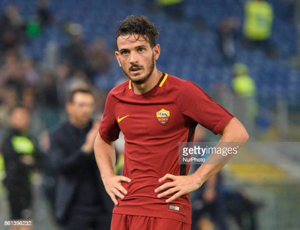Alessandro Florenzi during the Italian Serie A football match between AS Roma and SSC Napoli at the Olympic Stadium in Rome on october 14 2017