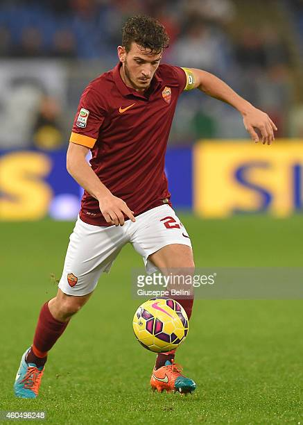 Alessandro Florenzi of AS Roma in action during the Serie A match between AS Roma and US Sassuolo Calcio at Stadio Olimpico on December 6 2014 in...