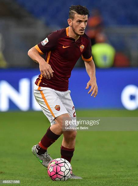 Alessandro Florenzi of AS Roma in action during the Serie A match between AS Roma and Empoli FC at Stadio Olimpico on October 17 2015 in Rome Italy