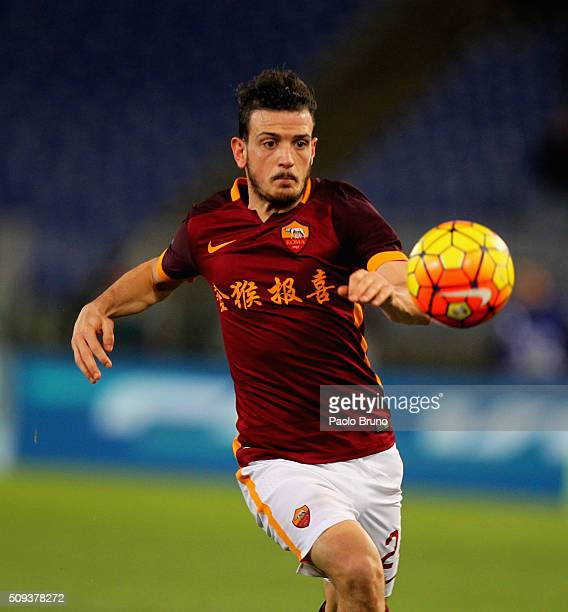 Alessandro Florenzi of AS Roma in action during the Serie A match between AS Roma and UC Sampdoria at Stadio Olimpico on February 7 2016 in Rome Italy