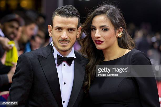 Alessandro Florenzi of Italy and AS Roma arrives with a guest for the FIFA Ballon d'Or Gala 2015 at the Kongresshaus on January 11 2016 in Zurich...