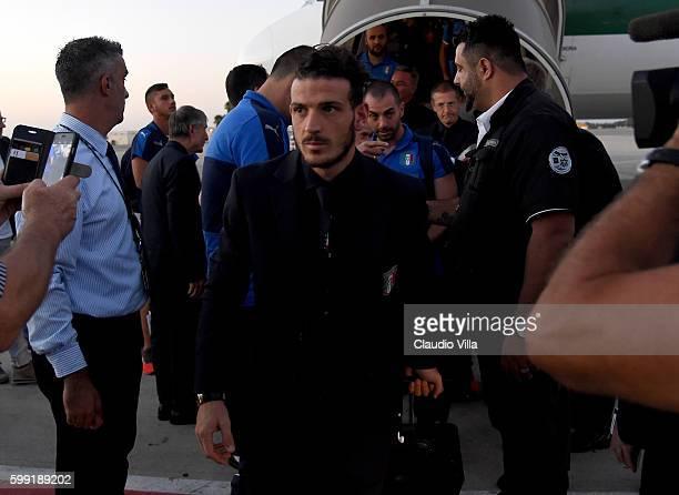 Alessandro Florenzi of Italy arrives in Israel on September 4 2016 in Haifa Israel