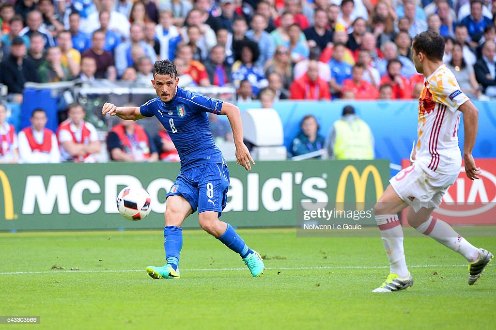 Alessandro Florenzi of Italy during the European Championship match Round of 16 between Italy and Spain at Stade de France on June 27, 2016 in Paris, France.