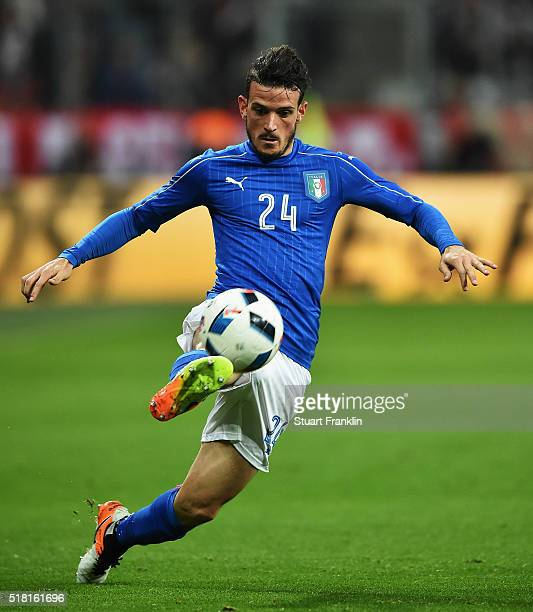 Alessandro Florenzi of Italy in action during the International Friendly match between Germany and Italy at Allianz Arena on March 29 2016 in Munich...