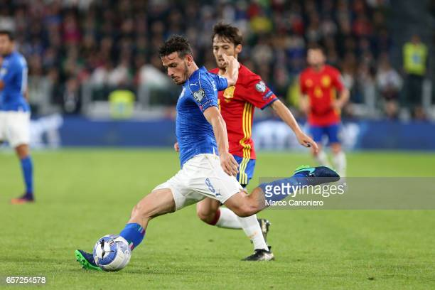 Alessandro Florenzi of Italy in action during the WC 2018 football qualification match between Italy and Spain The game ended 11