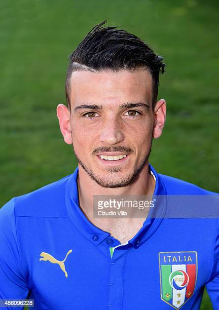 Alessandro Florenzi of Italy poses during the official portrait session at Coverciano on August 31 2015 in Florence Italy