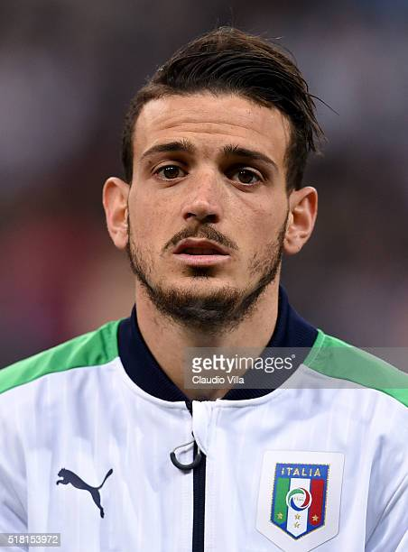 Alessandro Florenzi of Italy poses prior to the international friendly match between Germany and Italy at Allianz Arena on March 29 2016 in Munich...