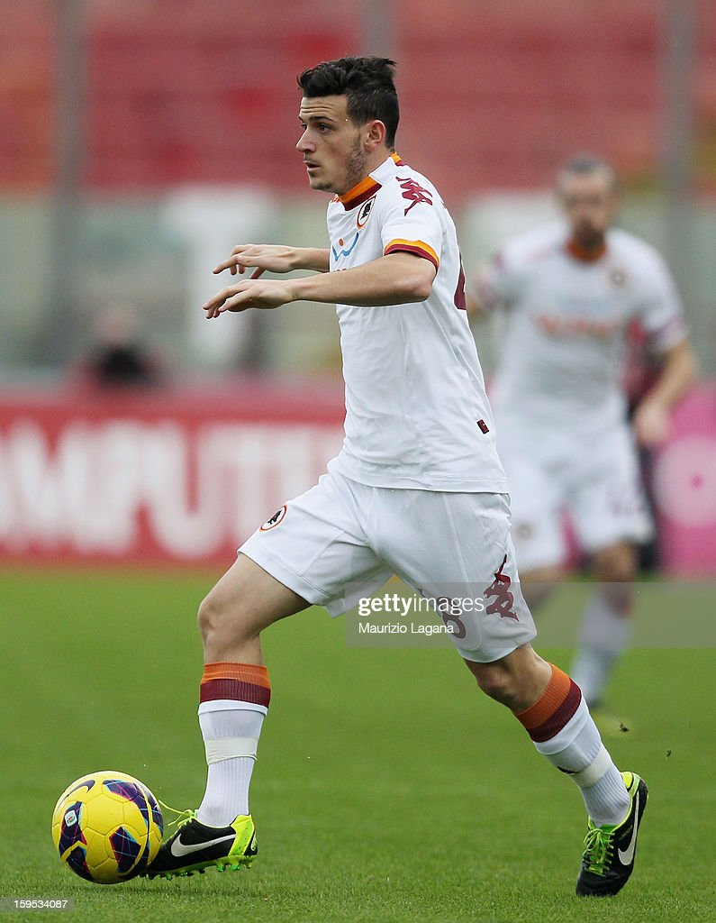 Alessandro Florenzi of Roma during the Serie A match between Calcio Catania and AS Roma at Stadio Angelo Massimino on January 13, 2013 in Catania, Italy.