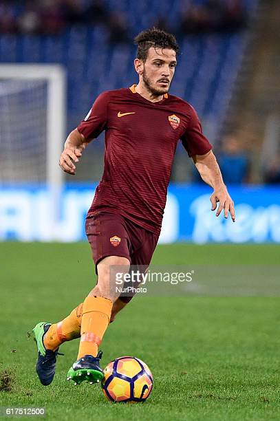 Alessandro Florenzi of Roma during the Serie A match between Roma v Palermo on October 23 2016 in Rome Italy