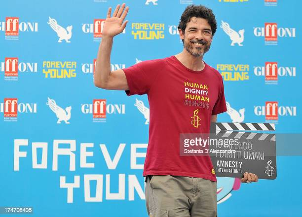 Alessandro Gassman attends 2013 Giffoni Film Festival photocall on July 28 2013 in Giffoni Valle Piana Italy