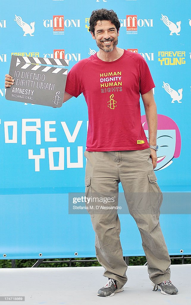 <a gi-track='captionPersonalityLinkClicked' href=/galleries/search?phrase=Alessandro+Gassman&family=editorial&specificpeople=2855774 ng-click='$event.stopPropagation()'>Alessandro Gassman</a> attends 2013 Giffoni Film Festival photocall on July 28, 2013 in Giffoni Valle Piana, Italy.