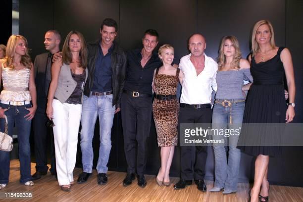 Alessandro Gassman with his wife Sabrina Knaflitz Stefano Gabbana Kylie Minogue Domenico Dolce Barbara Berlusconi Simona Ventura and Eros Ramazzotti...