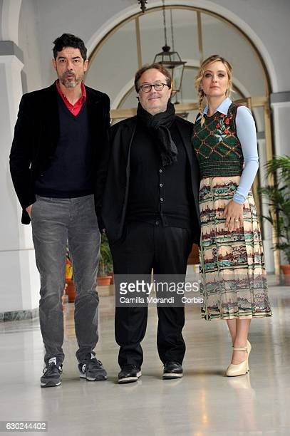 Alessandro Gassmann Carlo Carlei and Carolina Crescentini attends a photocall for 'Bastardi Di Pizzofalcone' Tv Series Photocall on December 19 2016...