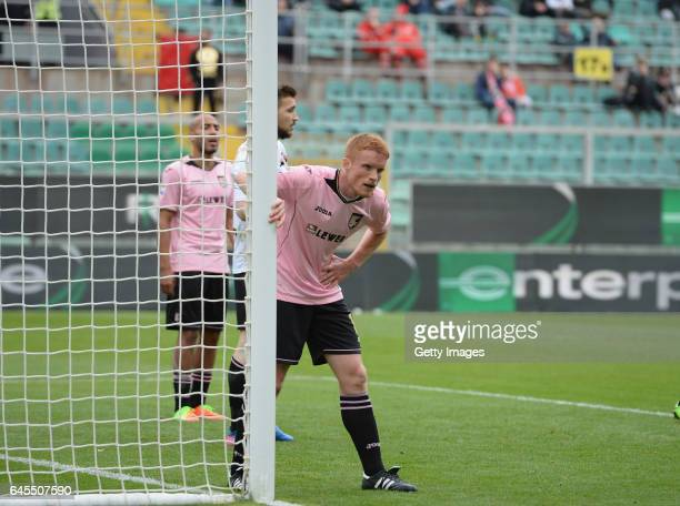 Alessandro Gazzi of Palermo during the Serie A match between US Citta di Palermo and UC Sampdoria at Stadio Renzo Barbera on February 26 2017 in...