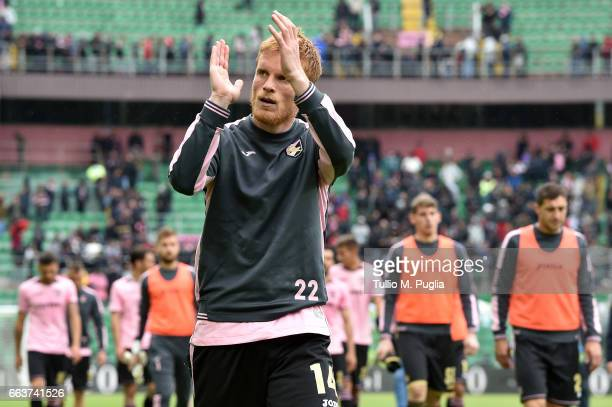 Alessandro Gazzi of Palermo leaves the pitch after losing the Serie A match between US Citta di Palermo and Cagliari Calcio at Stadio Renzo Barbera...