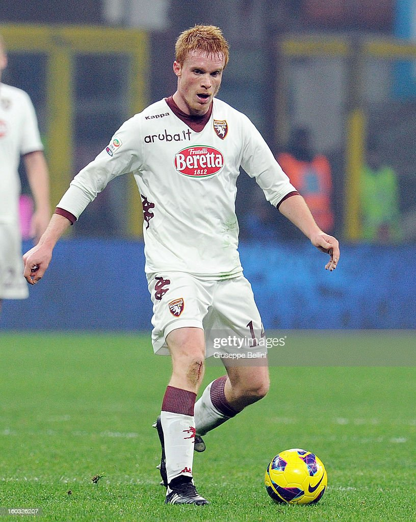 Alessandro Gazzi of Torino in action during the Serie A match between FC Internazionale Milano and Torino FC at San Siro Stadium on January 27, 2013 in Milan, Italy.