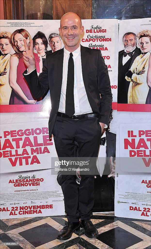 Alessandro Genovesi attends 'Il Peggior Natale Della Mia Vita' Premiere on November 21, 2012 in Milan, Italy.