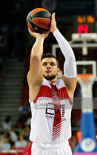 Alessandro Gentile #5 of EA7 Emporio Armani Milan in action during the Turkish Airlines Euroleague Regular Season date 2 game between Anadolu Efes...
