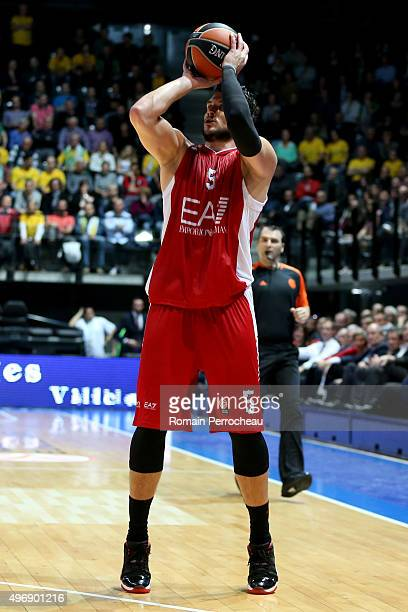 Alessandro Gentile for EA7 Emporio Armani Milan in action during the Turkish Airlines Euroleague regular season date 5 game between CSP Limoges and...
