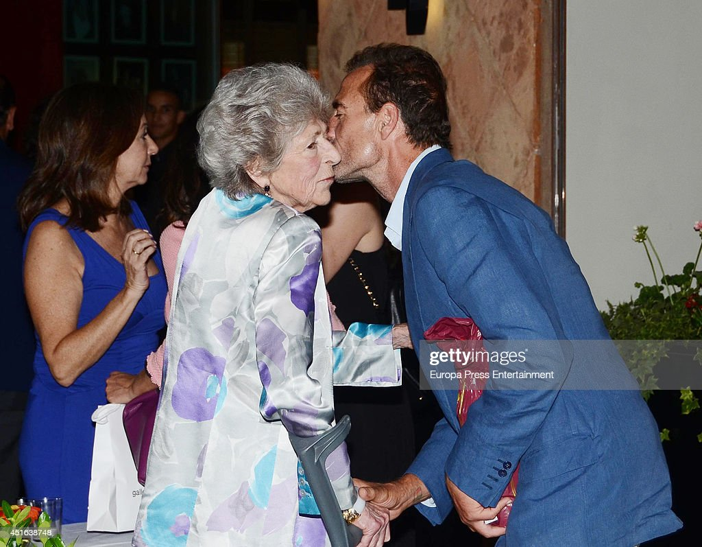 Alessandro Lequio and his mother Sandra Torlonia are seen on June 18, 2014 in Madrid, Spain.